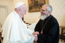 Emoção de encontrar o Papa
