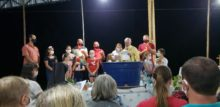 Animadoras celebrações em São Cristóvão